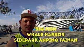 BIG FISH. Whale harbor sidepark Anping Tainan city taiwan