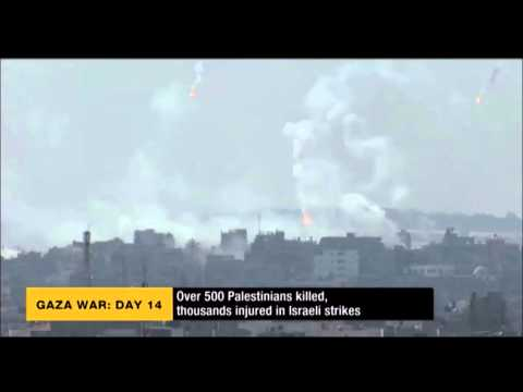 Israel - Gaza Conflict 2014:  Israel Using White Phosphorus On Civilians