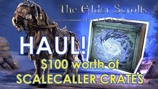 $100 worth of SCALECALLER CRATES and OMG! - ESO Crate HAUL