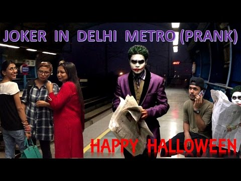 Joker in Delhi Metro (PRANK)