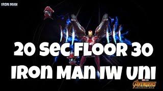 20 Sec Floor 30 IW Iron Man + Build | Marvel Future Fight