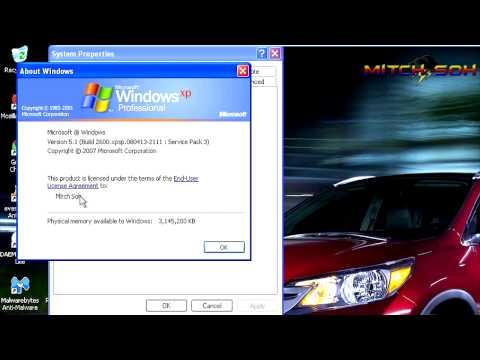 Windows XP Professional SP3 Running IN VMWare Workstation 9