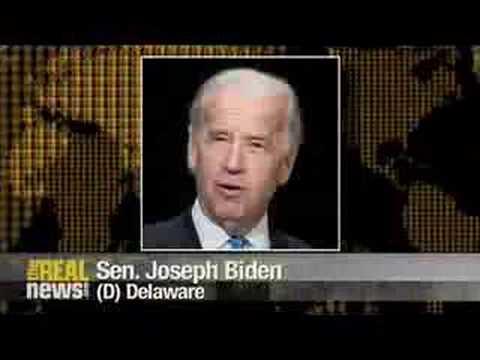 Sen. Biden calls BULLSHIT on Bush smearing Obama from Israel