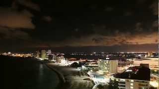 Cancun Timelapse Sunset into Night from Hyatt Regency