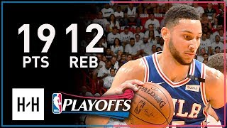Ben Simmons Full Game 3 Highlights 76ers vs Heat 2018 Playoffs - 19 Pts, 12 Reb, 7 Assists!