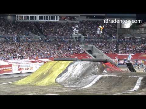 Freestyle Motocross (FMX) during halftime @ Monster Jam (2012) (720p)