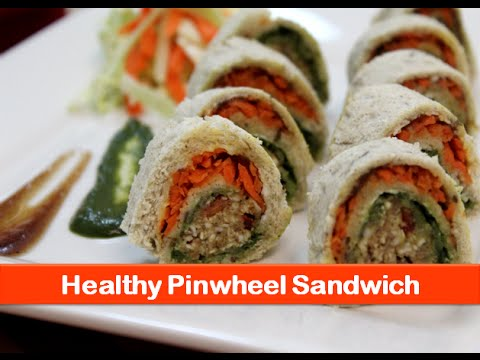 Healthy pinwheel sandwich recipe/Indian breakfast recipes/veg bread kids snacks idea-let's be foodie