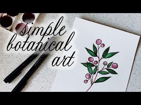 SIMPLE BOTANICAL ART // pure julia