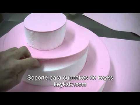 Cmo Hacer Un Stand Soporte Para Cupcakes YouTube