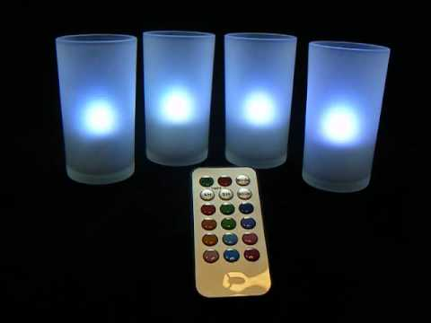 Candlefx Remote Rechargeable Led Color Changing Candles