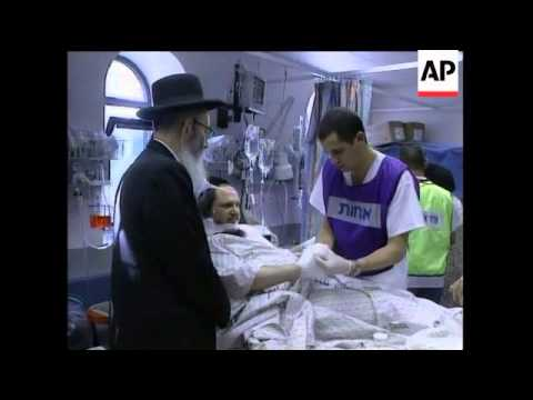 Aftermath of suicide blast, hospital scenes, reax