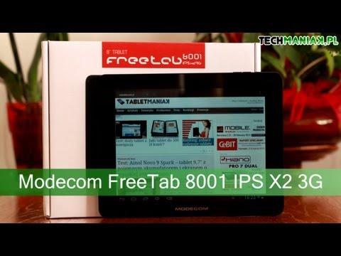 Wideo test i recenzja tabletu Modecom FreeTab 8001 IPS X2 3G   techManiaK.pl