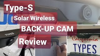 REVIEW! Type-S Solar Wireless Car Backup Cam! $124