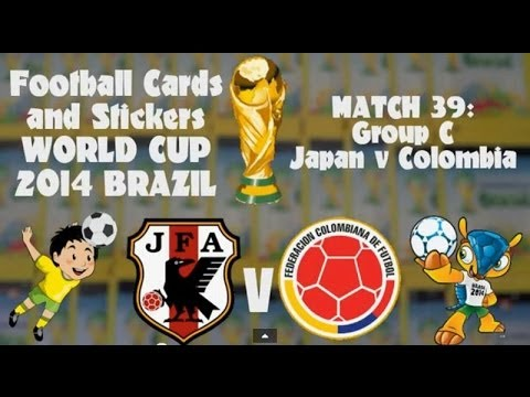 FOOTBALL CARDS & STICKERS WORLD CUP 2014 ☆ MATCH39 JAPAN v COLOMBIA ☆ adrenalyn xl & sticker packs