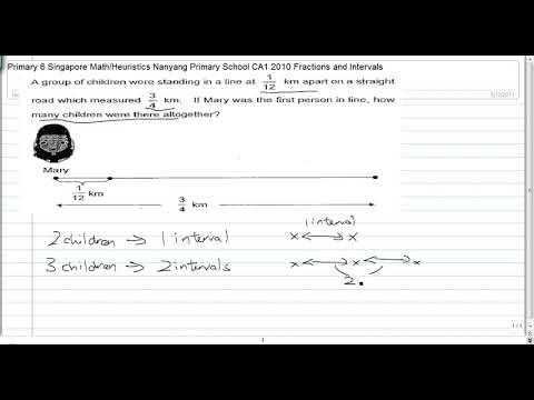 Primary 6 Singapore Mathematics Heuristics : Distance & Intervals