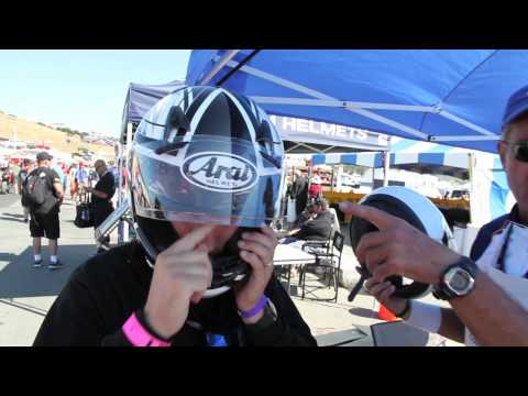 2011 Arai Signet-Q Motorcycle Helmet Fitting - Because size definitely does matter