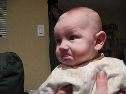the cutest baby pout.wmv