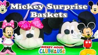 Exploring the Mickey and Minnie Mouse Surprise Baskets with the Assistant