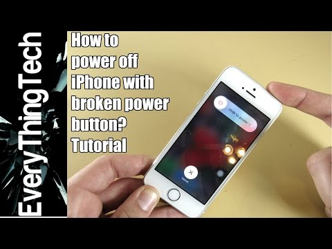 How to power off iPhone without power button?