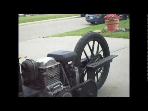 My Custom Gas Bike pusher trailer Description