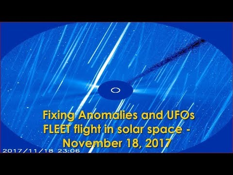 Fixing Anomalies and UFOs fleet flight in solar space - November 18, 2017