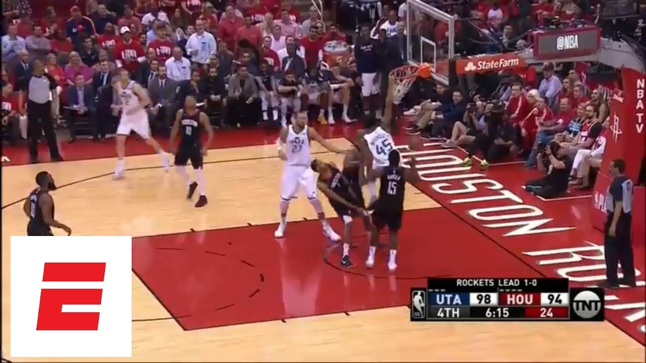 Donovan Mitchell rebounds own miss and throws down unbelievable putback dunk vs. Rockets | ESPN