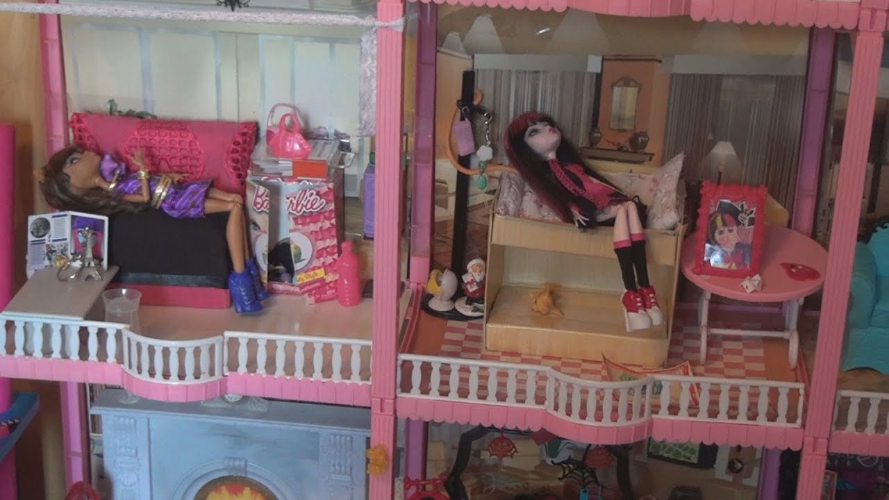 Как сделать дом для кукол монстер хай