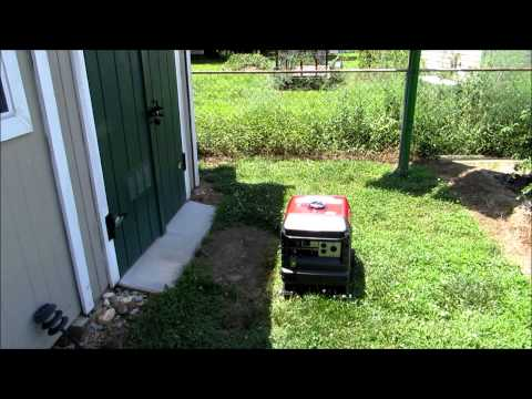 Honda Generator EU 3000 IS Cold Start After 2 Months...