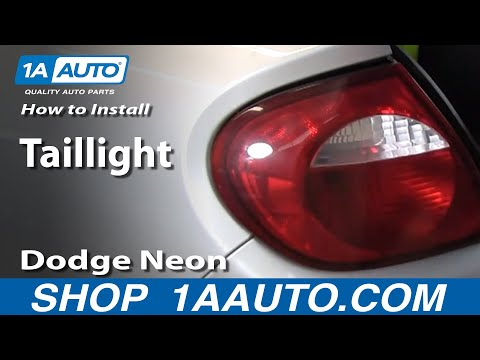 How To Install Replace Taillight Dodge Plymouth Neon 00-05 1AAuto.com