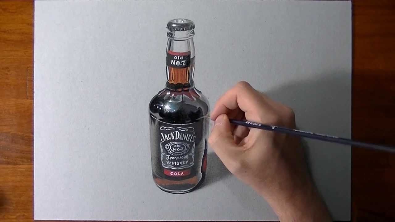 jack daniels bottle drawing - photo #18