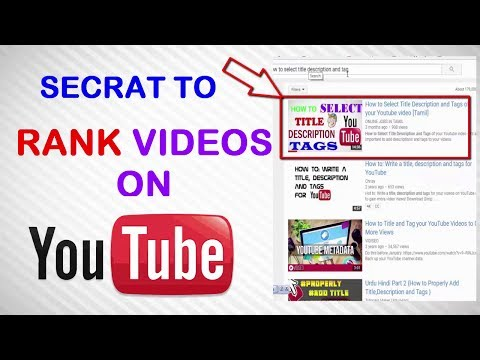 How to Rank Youtube Videos Fast - Youtube Seo tips