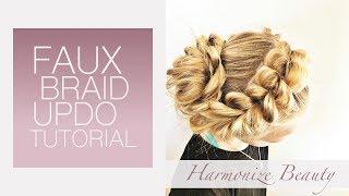 Faux Braid updo - Harmonize_Beauty
