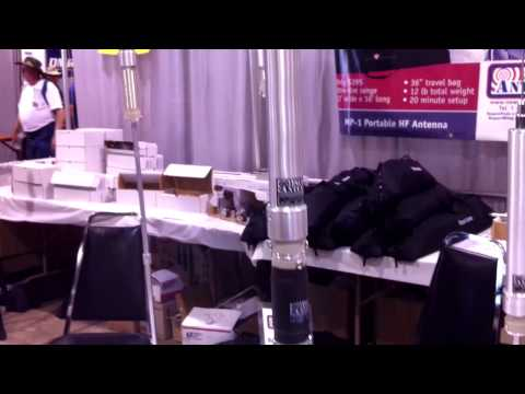 Various Superantenna Portable HF Antennas at Dayton Hamvention 2012