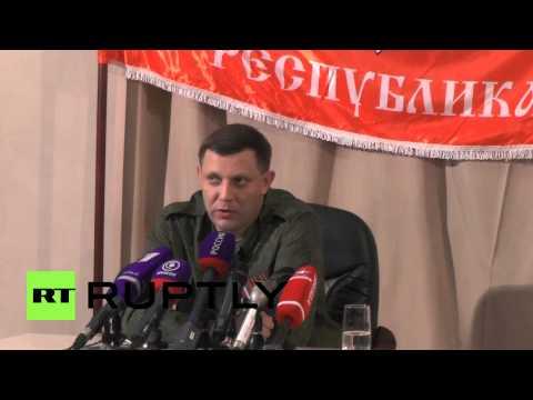 Ukraine: 'Poroshenko has signed his surrender' - Zakharchenko
