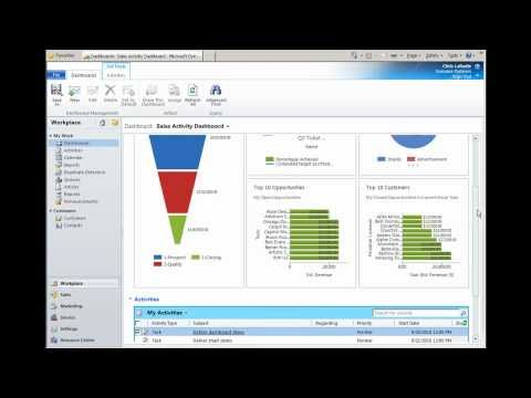 What's New in CRM 2011 - Dashboards