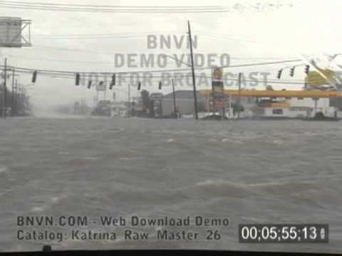 8/29/2005 Hurricane Katrina Flooding Video, Kenner, LA - Katrina Raw Master 26