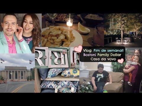Vlog: Fim de semana!! | Boston | Family Dollar | Casa da vovó