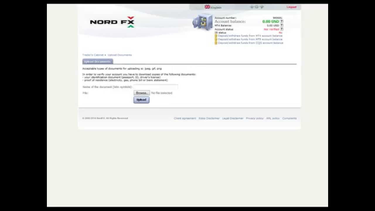 Verify forex account