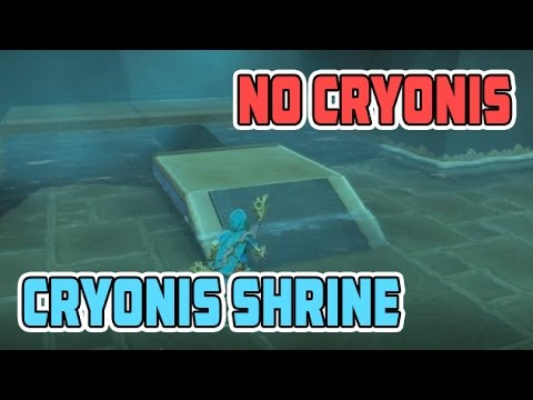 Zelda Breath of the Wild Cryonis Trial Shrine Without Cryonis