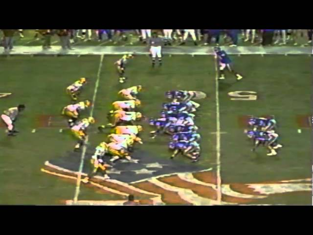 Big 4th down stop by the Oregon defense vs. Tulsa in the 1989 Independence Bowl