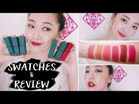 Bbia霧面唇膏綠管全試色 Last lipstick full swatches & review