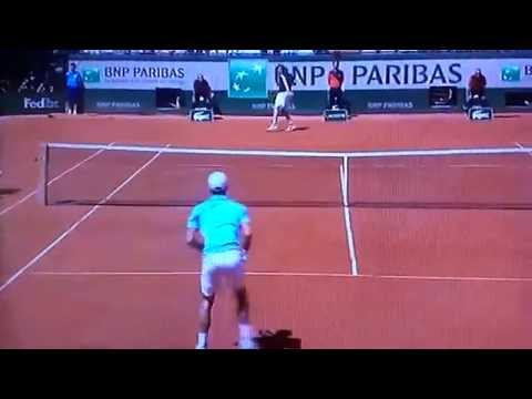 Novak Djokovic v Ernests Gulbis French Open 2014