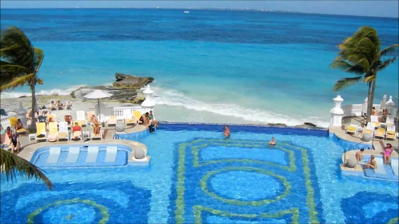 Riu palace all inclusive resort cancun mexico youtube for Top rated mexico all inclusive resorts