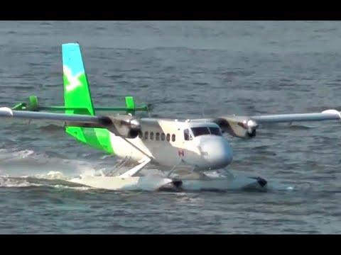 Twin Otter Seaplane Landing