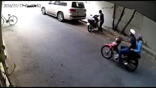 clip trộm xe bá đạo nhất làm ai cũng sợ...tphcm 2016
