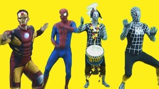 Spiderman vs Misterious Drums w/Venom Batman Hulk and Iron Man