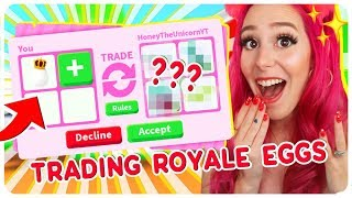 I Traded Only ROYAL EGGS for 24 Hours! Roblox Adopt Me Trading Challenge