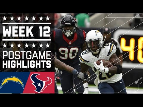 Chargers Vs Texans Nfl Week 12 Game Highlights