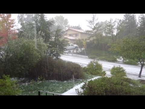 Crazy Napa Hailstorm Pounds Earthquake Disaster Zone