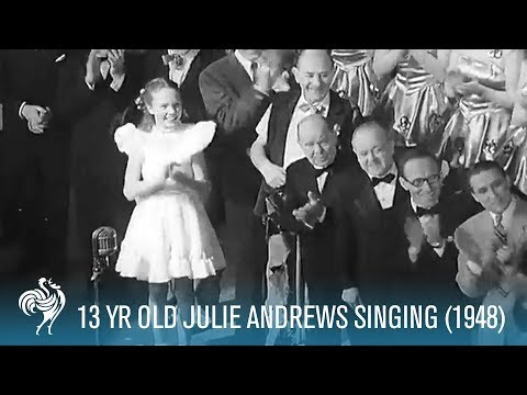 Julie Andrews (Aged 13) Sings for King George VI in 1948 HD